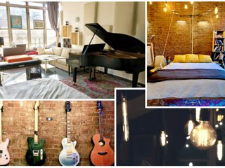WOW, Huge, Sunny Loft w/ room for 6+, Patio + Laundry! Musician's Paradise!