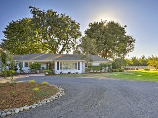 NEW! 10-Ac Ranch Home in Chico - Great for Events!