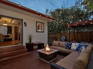 NEW LISTING! Zen bungalow w/outdoor living area, hot tub, firepit, walk to beach