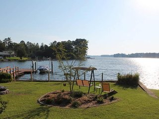 Family-friendly & dog-friendly lakefront home with a dock and great views!