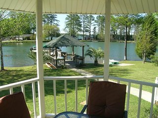 NEW LISTING! Spacious lakefront home with floating dock, gazebos, and game room!