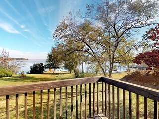 NEW LISTING! Waterfront cabin on two acres with dock and firepit!
