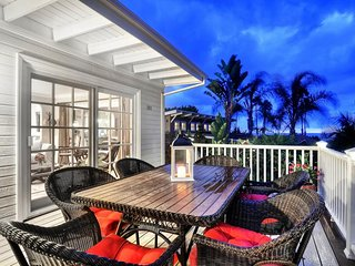 NEW LISTING! Oceanview home with spacious deck with firepit, 1 mile to beach!