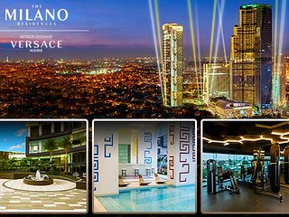 Lux Milano Residences 2 BR/3 Bathrm Spacious 110 sqm wifi20mbps, cable & netflix