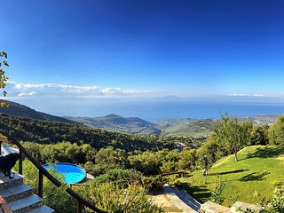 PELION HOMES | Villa SELINI  with panoramic sea view  (sleeps4-9)