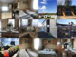 3 bed, 6 berth family friendly caravan holiday rental in Manorbier Country Park