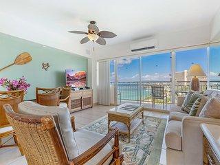 Toast Paradise! Ocean View Suite w/Kitchen, Washer/Dryer, WiFi–Waikiki Shore