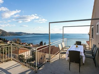 Apartments Klis - Two Bedroom Apartment with Balcony and Sea View - A7