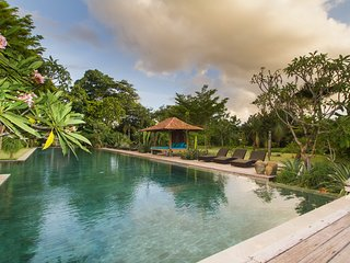 Serenity River Estate, 6 Bedroom Villa, feature pool and gardens, chef, Canggu