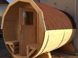 8 Person Barrel Sauna