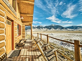 NEW! 10-Acre Yellowstone Cabin w/Stunning Mtn View