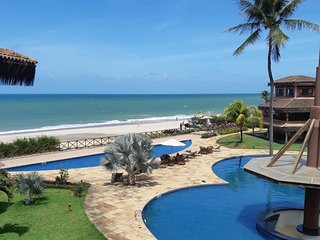 Seafront duplex apartment with private rooftop at Dream Village Condo Cumbuco