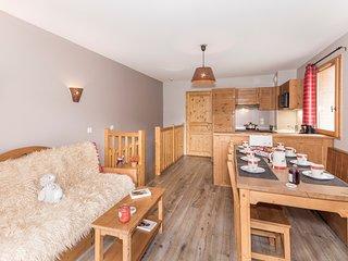Appartement spacieux et cosy 8p, a 50m des pistes ! Acces sauna