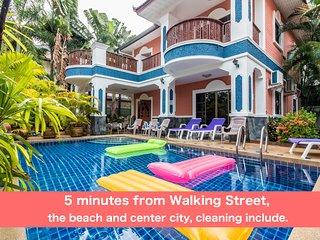 6 bedrooms villa GT near the beach and Walking Street