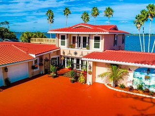 Mediterranean Waterfront Mansion in Merritt Island Next To Cocoa Beach