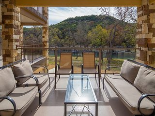 Brand New Listing! 2 GORGEOUS 3/2 condo on the Guadalupe River! Sleeps 12!!