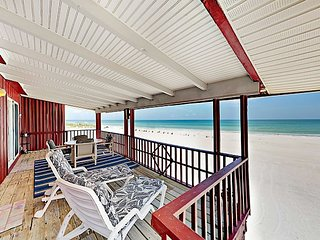 Unobstructed Gulf Views & Spectacular Sunsets Await! 2BR Beachfront Bungalow
