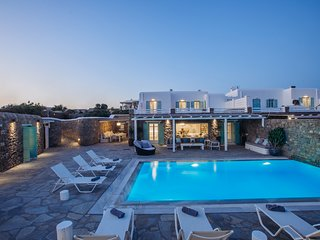 Villa Front-Night View-Pool