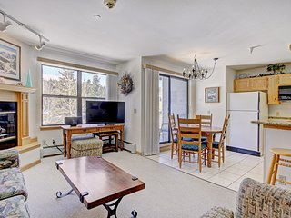 Fantastic Studio with Stunning Mountain Decor and Great Balcony Views