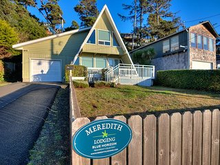 Sweet A-Frame Near Waldport Beach Has Ocean Views from Living Room and Loft!