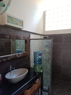 Bathroom with hot water