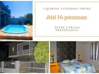 Melhor casa de Mariscal Bombinhas, 4 quartos com piscina, até 14 pessoas