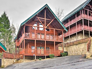 NEW! Sevierville Cabin w/ Spa, Game Room & Views!