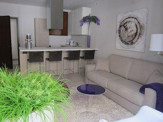 Luxe appartement met kamer en open keuken,  direct aan het Comomeer