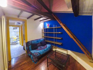 Panoramic little attic with mezzanine