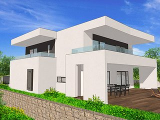 Design Villa LeLu, Medulin-Liznjan, Sea view, pool, tennis