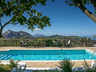 Villa Amiela with Private Pool, Sea View, Garden, Terrace and Parking