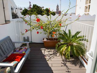 Spectacular duplex with terraces and views of the main monuments of Malaga