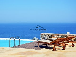 Stone built villa with a swimming pool and fantastic sea view