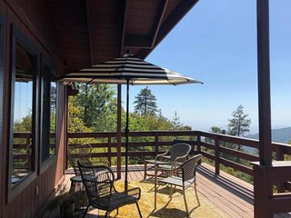 Retro-chic, dog-friendly home w/ a full kitchen, large deck, & mountain views