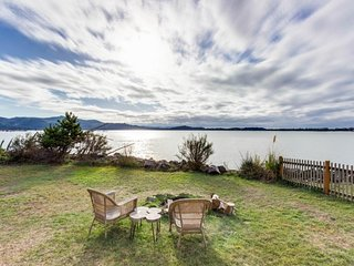 Bayview home with large yard, bayfront deck, and gorgeous views!