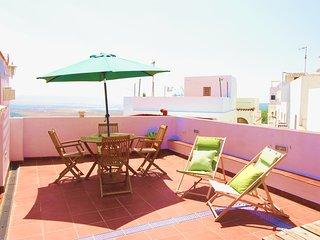 La Casita de Vejer,apartamento con encanto en el casco historico-WIFI-AA-Terraza