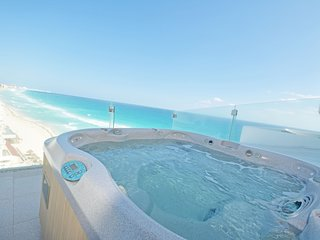 4 person jacuzzi on the big terrace.