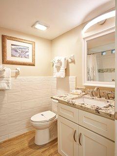 Hall Bathroom with Tub/Shower combination.