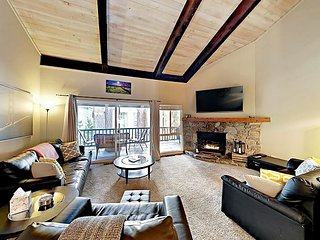 3BR Condo w/ Balcony & Fireplace, Close to Skiing & Beaches
