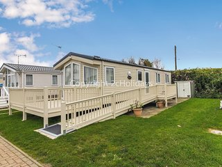 8 berth caravan with D/G ,C/H and decking. At California Cliffs. REF 50026M