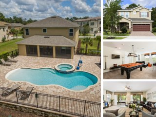 W245- 8 Br Wheelchair Accessible Reunion Pool Home