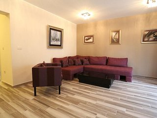 Spacious apartment close to the center of Budva with Parking, Internet, Washing