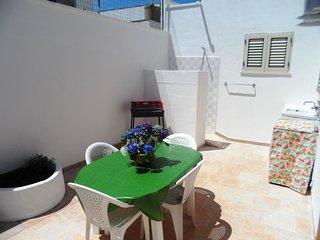 Casa a 100 m sabbia con veranda, box, barbecue,7 posti, 2 clima