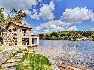 4BR, 4BA Lakefront Austin Home with Stunning Views, Private Dock & Beach
