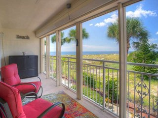 Located on the Beach Directly Across from Johns Pass. All Renovated. Large Balco
