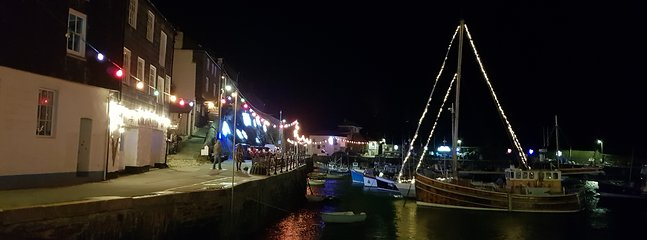 A festive harbour - a real treat at Christmas and New Year