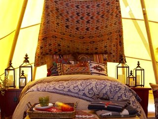 Lakota Luxury Tipi, a Grand Chief's Lodge 26' Hand Painted Glamping at it's BEST