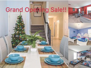 Grand Opening Sale: DISNEY-ORLANDO 9BD Villa with Pool & Spa at Champions Gate