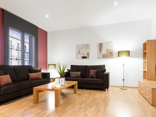 Two bedroom and two bathroom apartment. Best option to stay in Barcelona!