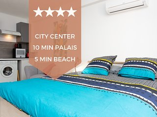 ❤  Center of Cannes ❤  Renovated studio, terrace, 10 minutes to the Palais!
